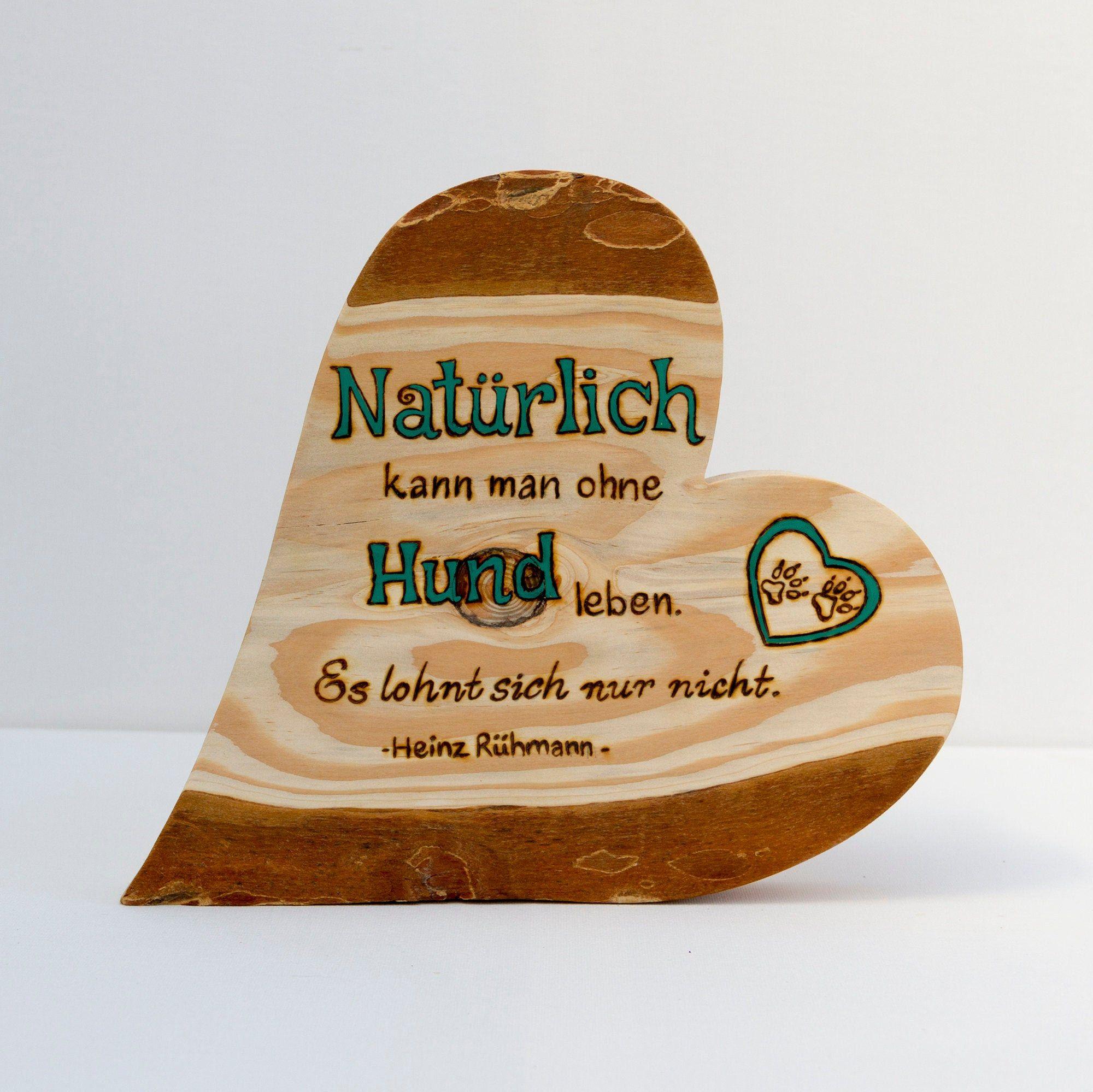 Freistehendes Herz Mit Rinde Rindenherz Holzherz Mit Spruch Hund In 2020 Wooden Toy Car Toy Car Cool Stuff