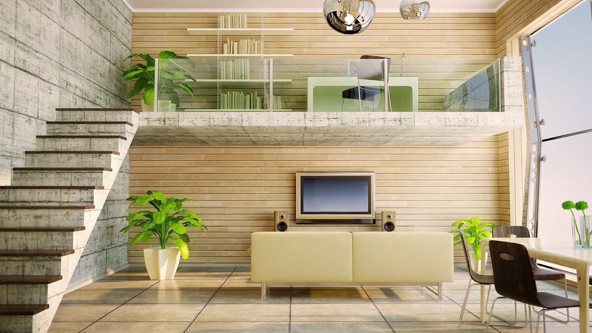 Modern interieur hoogslaper steigerhouten hoogslaper lara