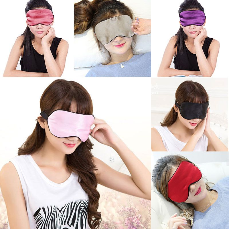 New Silk Eyes Mask Cooling Eye Cover For Travel Sleep Mask Covers