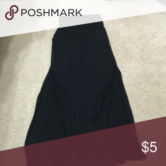 Black maxi skirt, slits on both sides, size S Black maxi skirt, Charlotte Russe, size small, slits on both sides Charlotte Russe Skirts Maxi