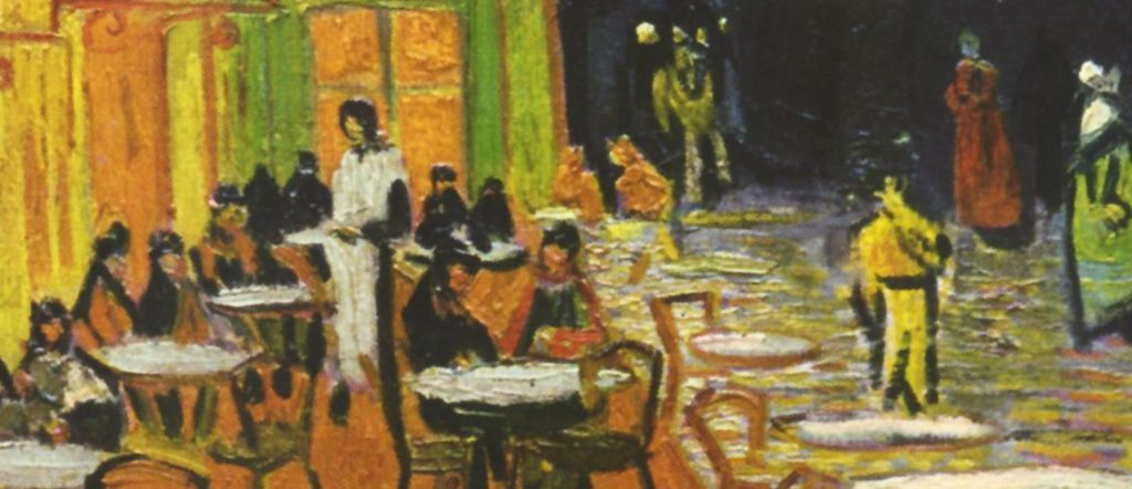 Detail Personnages Et Tables Vincent Van Gogh Terrasse De Cafe Le