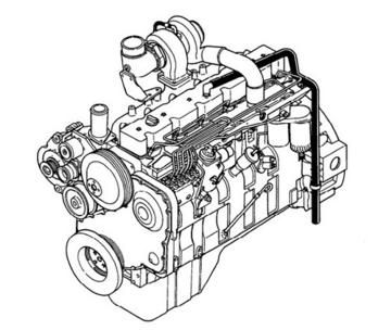 1991 KOMATSU KDC 614 Series Diesel Engine Workshop Service