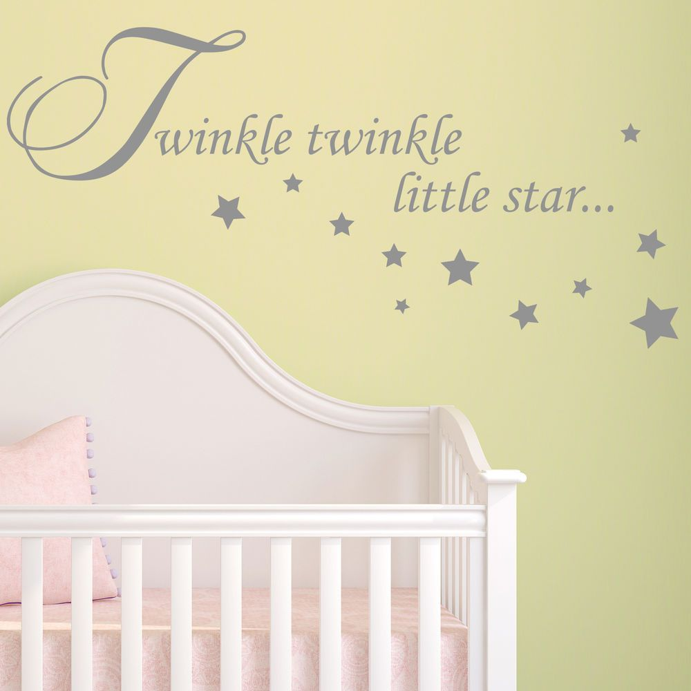 Baby Wall Sticker Quote - Twinkle Twinkle Stars Child Nursery ...