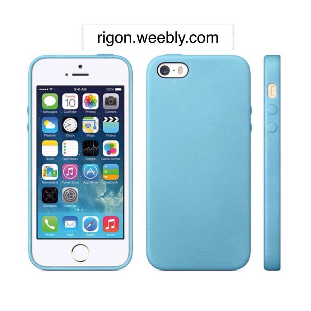 custodia iphone 5s azzurra