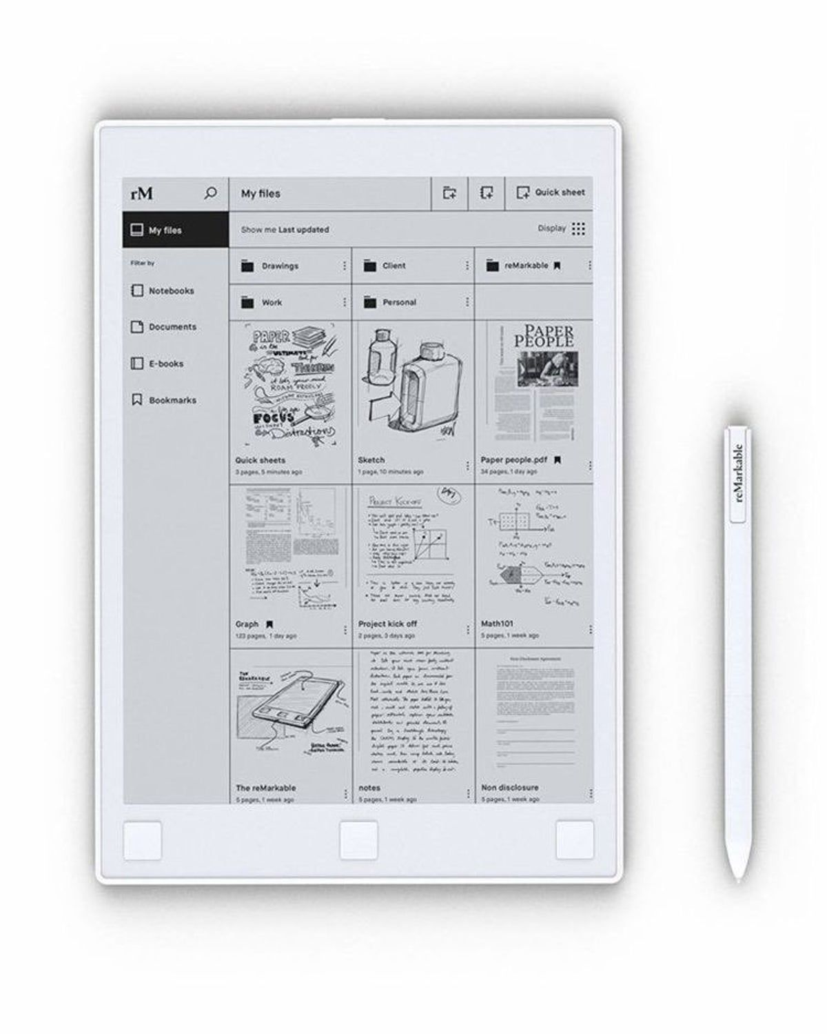 Remarkable Tablet Note Tablet Tablet Paper