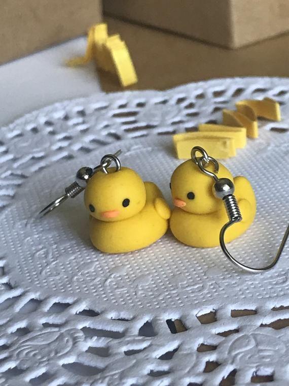 Photo of Cute Duck Earrings, Polymer Clay Earrings, Cute Earrings For Kids
