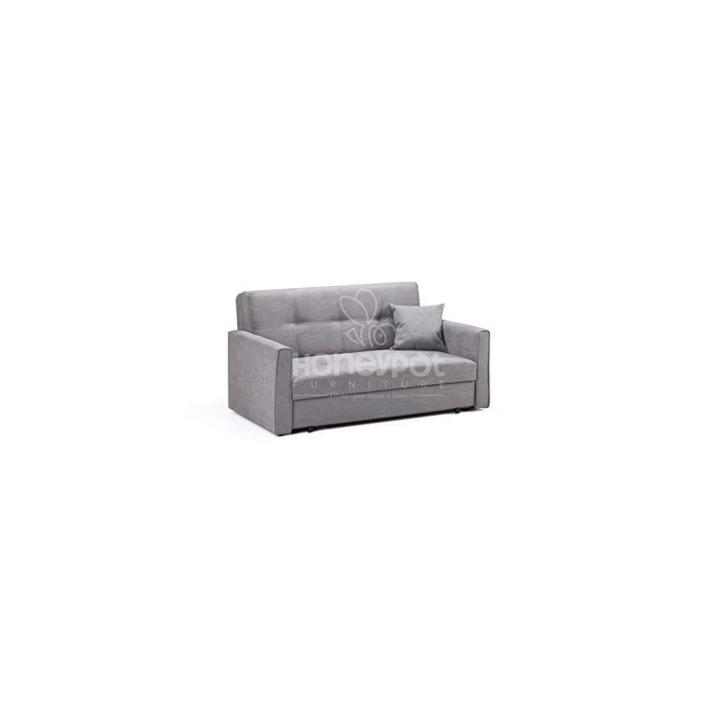 Honeypot Sofa Viva Storage Sofa Bed 2 Seater Grey Fabric Sofa Bed 2 Seater Grey Fabric Sofa Bed