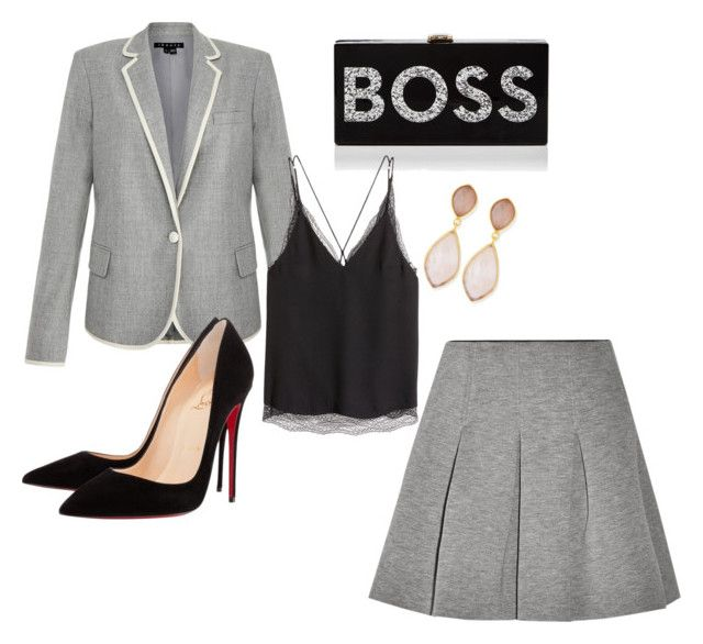 """""""Boss Lady"""" by teisha-henderson-regan on Polyvore featuring Theory, T By Alexander Wang, Milly, Christian Louboutin and Dina Mackney"""