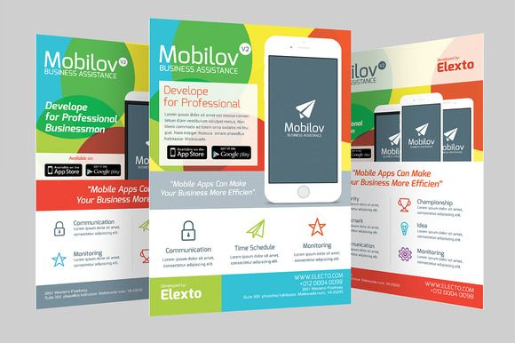 check out colourful mobile app flyer by graphicstall on creative