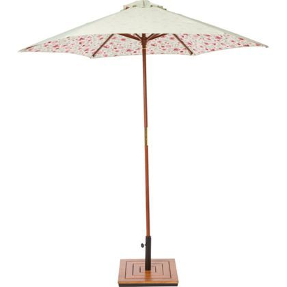 Country Floral Wooden Parasol - 2m | New Dining Room | Pinterest