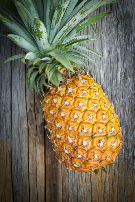 When choosing a pineapple, look for gold extending upward from the base. The more gold on your pineapple, the sweeter it will be.