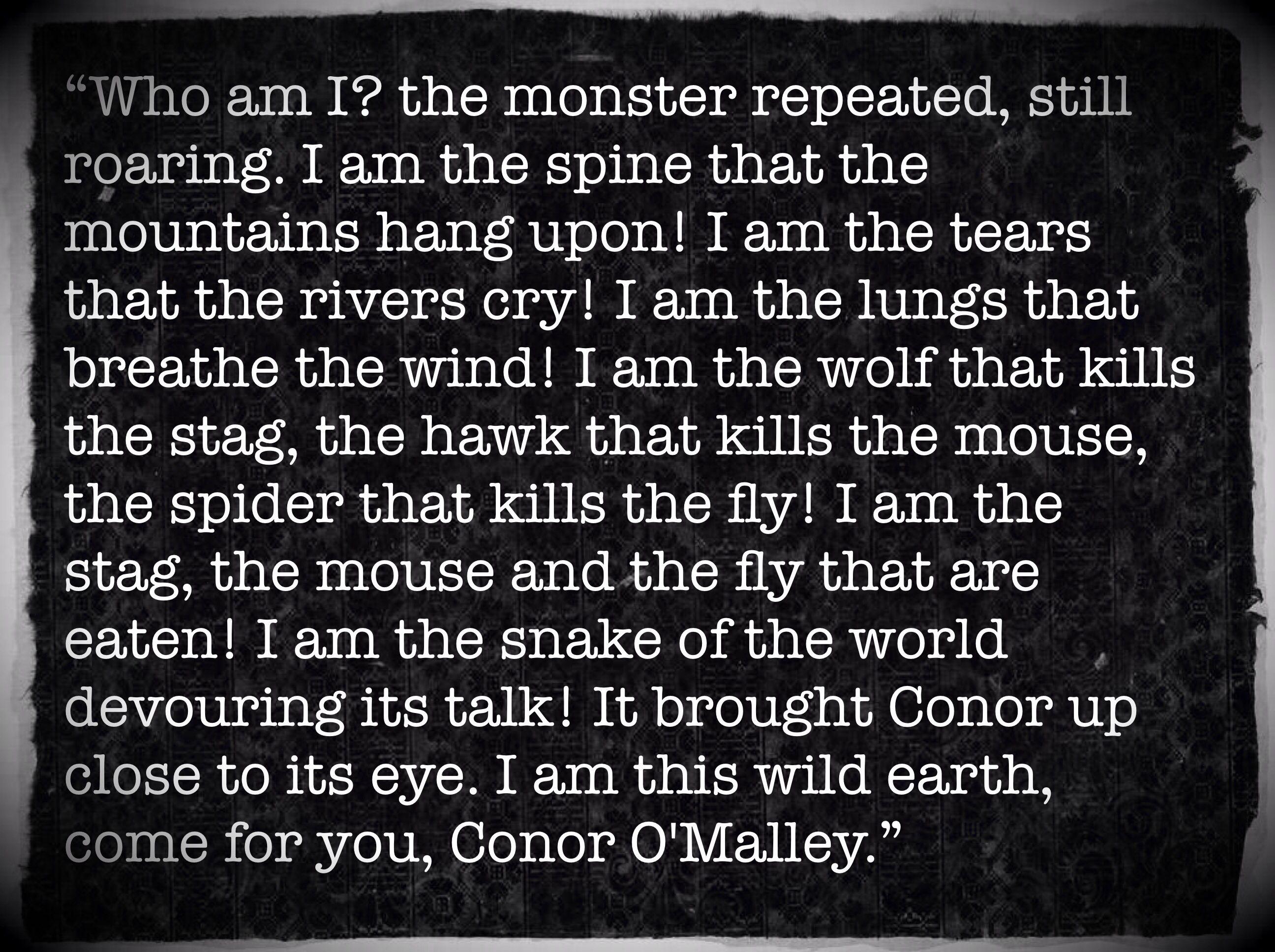 A Monster Calls  art book excerpt