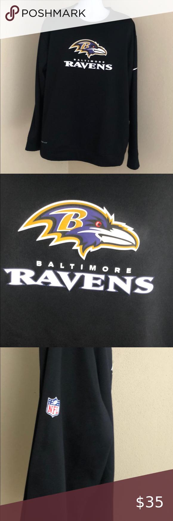 Predownload: Nike Ravens Baltimore Sweatshirt Sweatshirts Nike Black Nikes [ 1740 x 580 Pixel ]