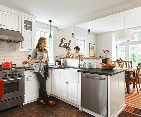 Open Kitchen Layouts: A Cozy Kitchen With More Light, More Function