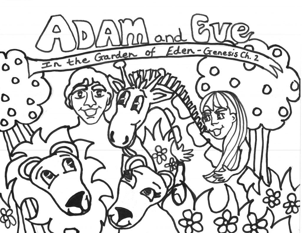 Free Printable Adam And Eve Coloring Pages For Kids