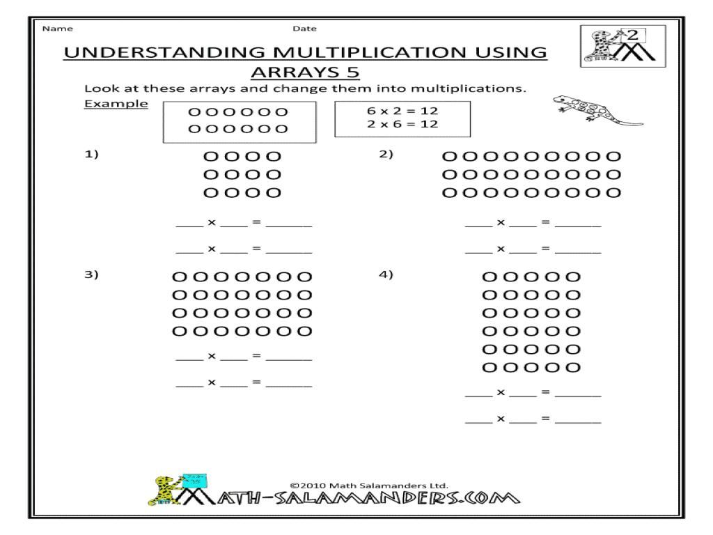 51 Multiplication Using Arrays Worksheets In