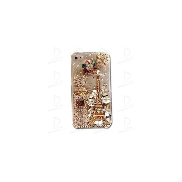 3-D No.1 perfume with the Eiffel tower rhinestone case for iPhone4/4S... via Polyvore