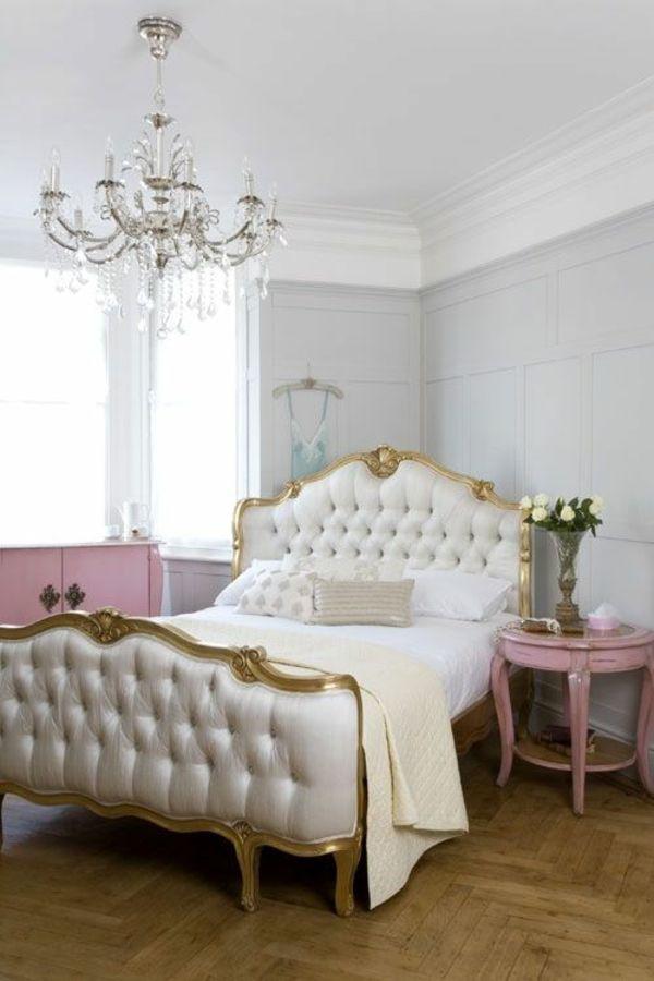 Attraktiv Landhausmöbel Französische Polstermöbel Weiß Bettgestell