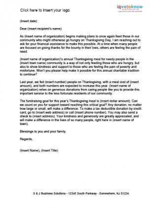 Meals For The Needy Fundraising Letter Example This Letter Is