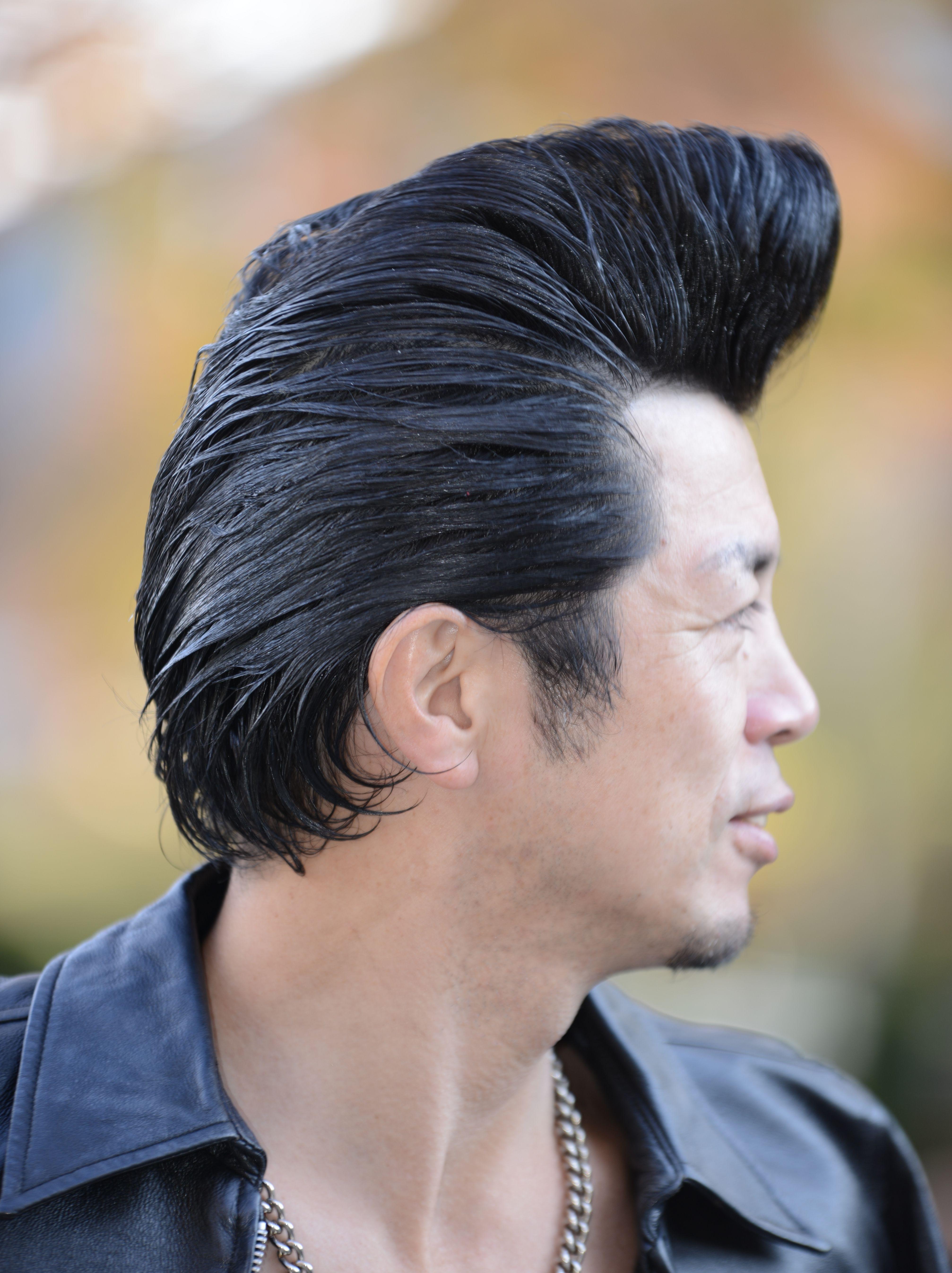 rockabilly club in yoyogi park, tokyo, japan serious pomp. | hair