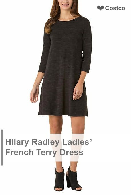 Hilary Radley Ladies' French Terry Dress is perfect for spring. It has a relaxed