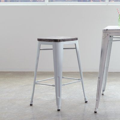 Laurel Foundry Modern Farmhouse Isabel Bar Counter Stool Bar Stools Stool Industrial Bar Stools