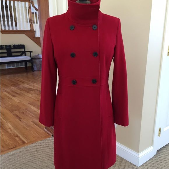 "Old Navy Red double breasted wool coat This coat is so cute and in GREAT condition. 38"" length, 25"" sleeves. Old Navy Jackets & Coats"