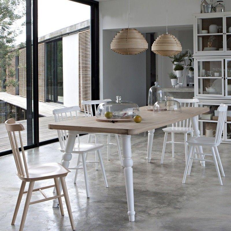 Etonnant Ampm Chaise, Chaise Bois Blanc, Table Blanche Et Bois, Salle À Manger Beige