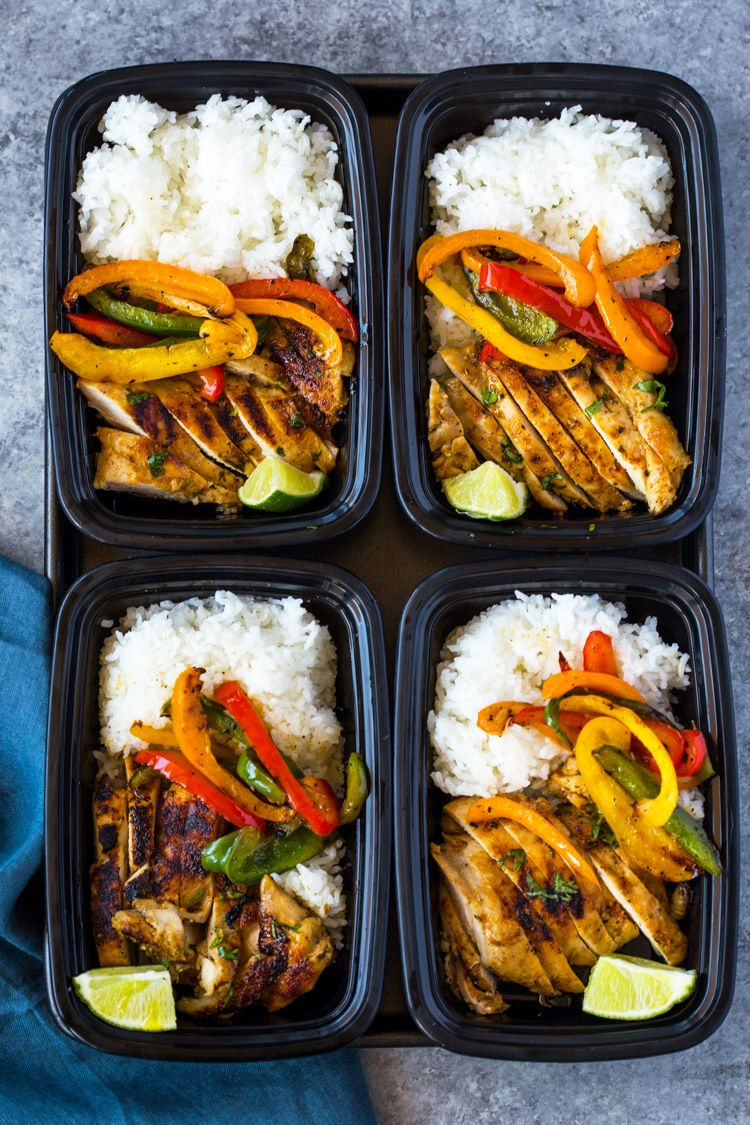 Chili Lime Chicken and Rice Meal Prep Bowls Recipe
