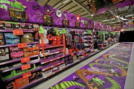 great halloween floor graphics from an asda store