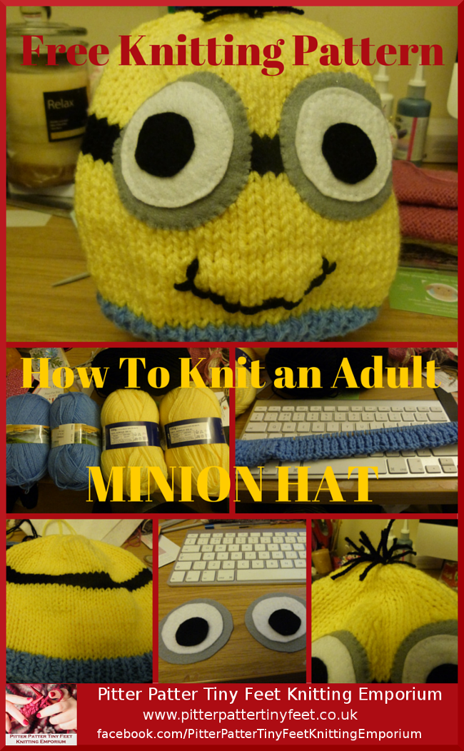 Adult Minion Hat Knitting Pattern Minion Beanie Knitting