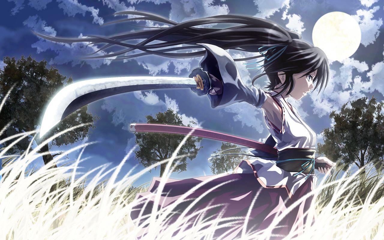anime girl with sword anime girls with swords