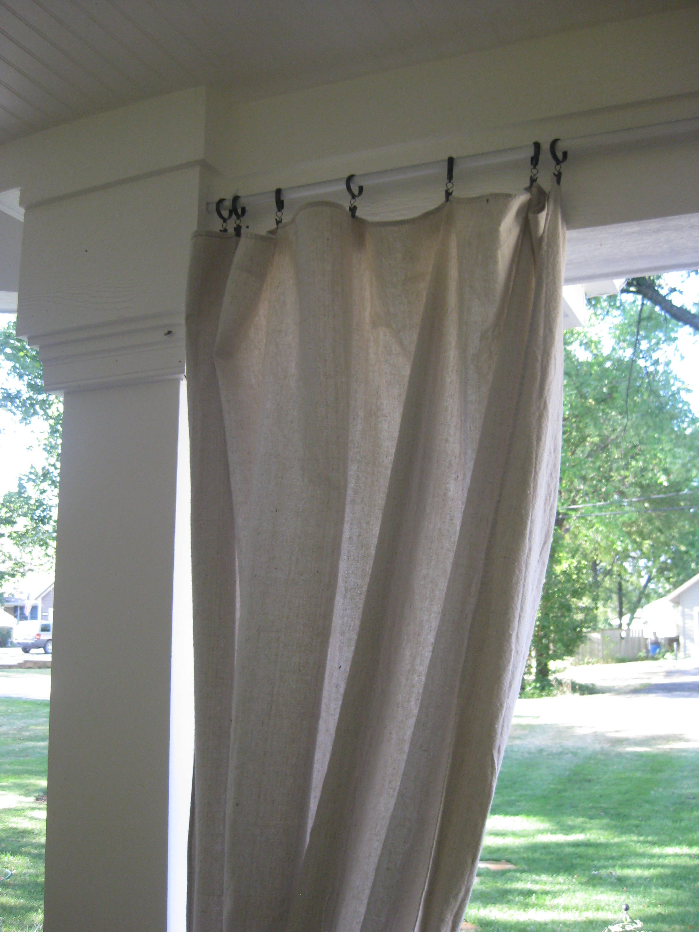 Pictures shows curtain rod which was a 10\' section of metal ...