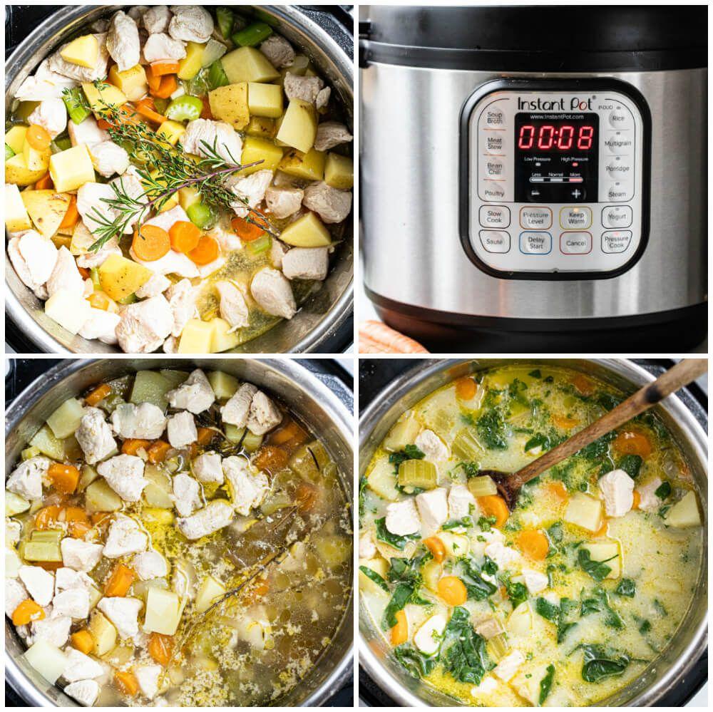 Instant Pot Chicken Pot Pie Soup (dairy free. gluten free