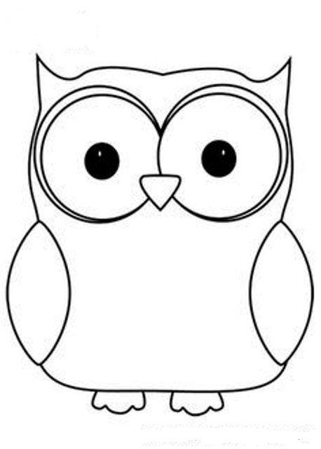 Baykuş Baykuşkalıbı Kalıplar Boyama Kolay çizimler Owl