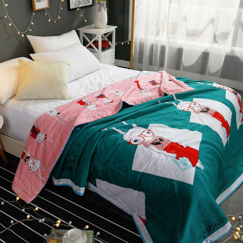 >> Click to Buy << Kids Comforter Cartoon Rabbit Quilts Cotton Blanket Feather Filled Queen Comforter Bedding Blanket #Affiliate