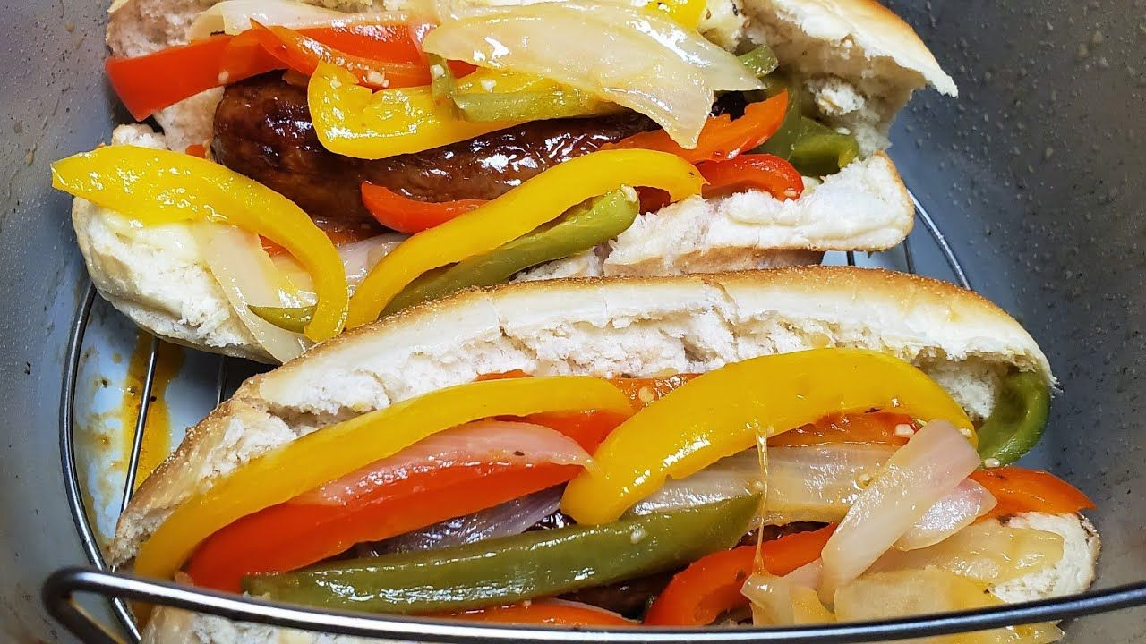Ninja Foodi Italian Sausage with Peppers & Onions