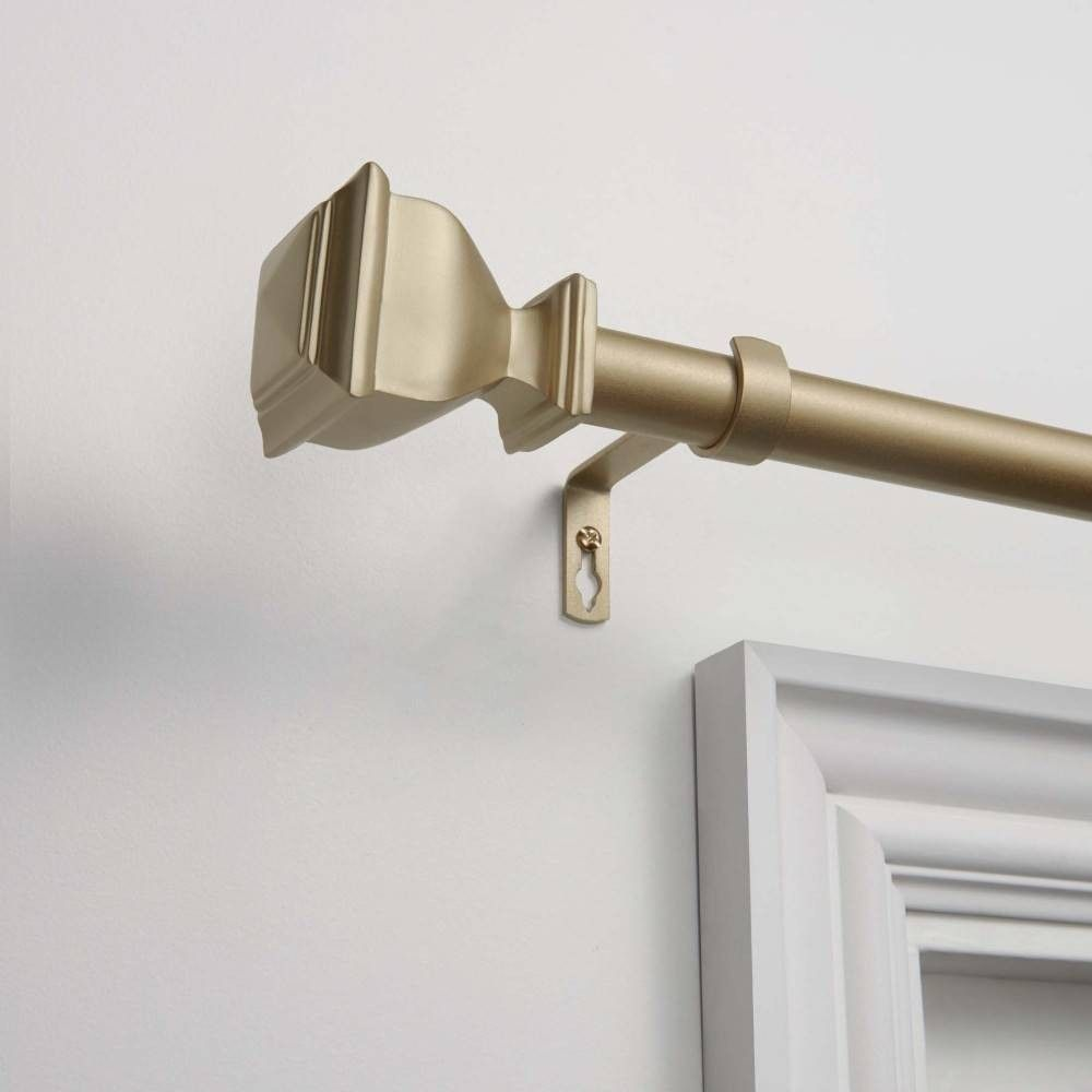 Napoleon 1 Curtain Rod And Coordinating Finial Set Matte Black