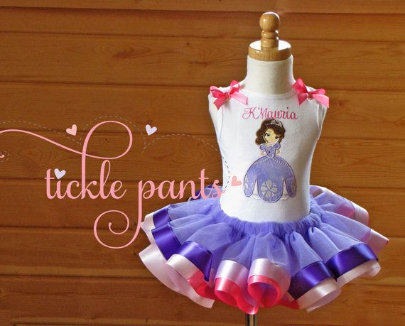 Sofia the 1st Birthday Outfit Pinks and purpler by TicklePants