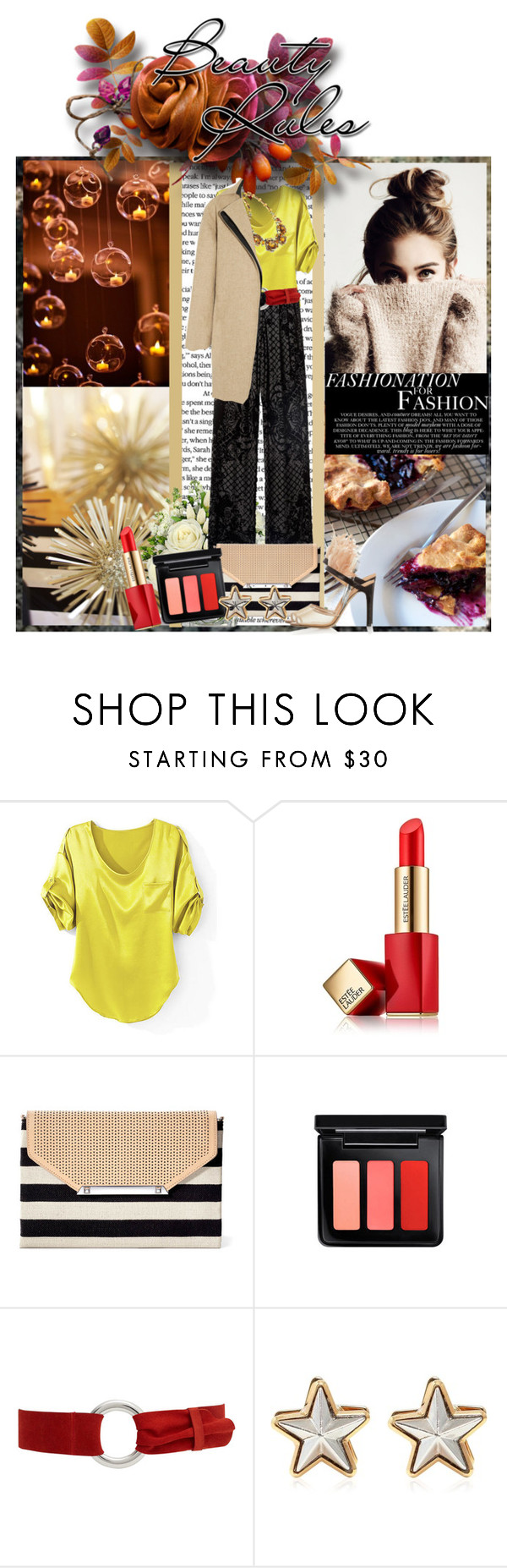 """""""enjoy the little things."""" by lovely-light ❤ liked on Polyvore featuring Concord, Balmain, Estée Lauder, Stella & Dot, MAC Cosmetics, MANGO, Givenchy and Atto"""