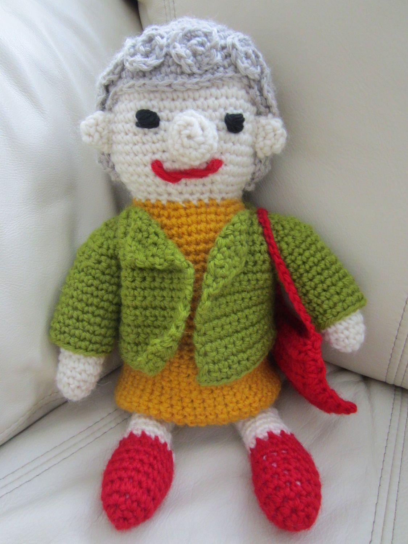 Crochet Adorable Grandmama by MonkeyCatBoutique on Etsy https://www.etsy.com/listing/102345210/crochet-adorable-grandmama