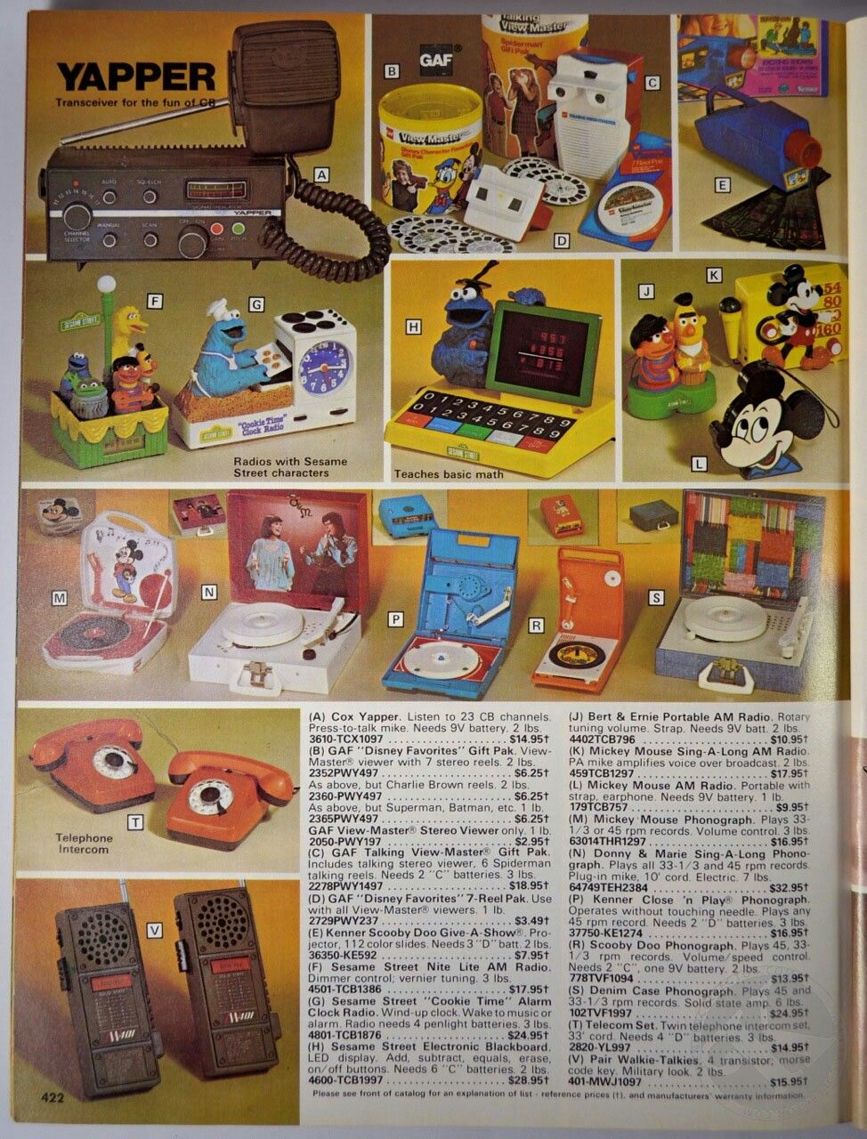 Toys in a 1980 Service Merchandise Catalog Disney