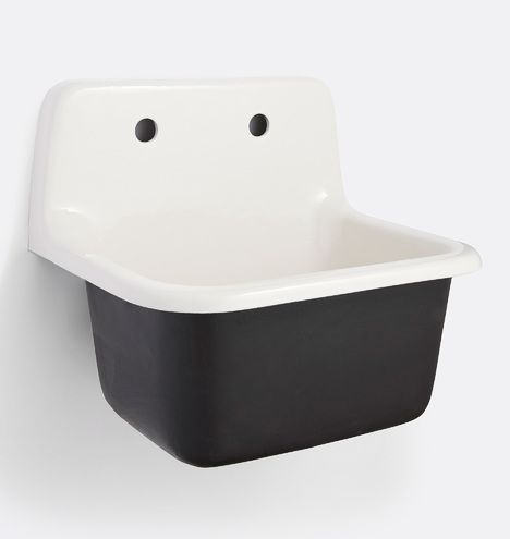 Grizzly Cast Iron Utility Sink with Drain