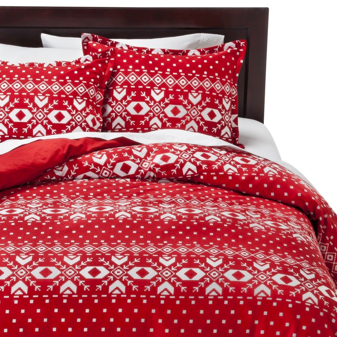 Fair Isle Flannel Duvet Cover Set Totally getting this for winter ...