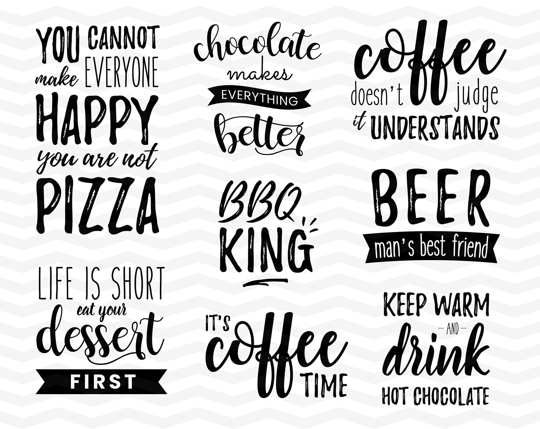 Food And Drinks Svg Bundle