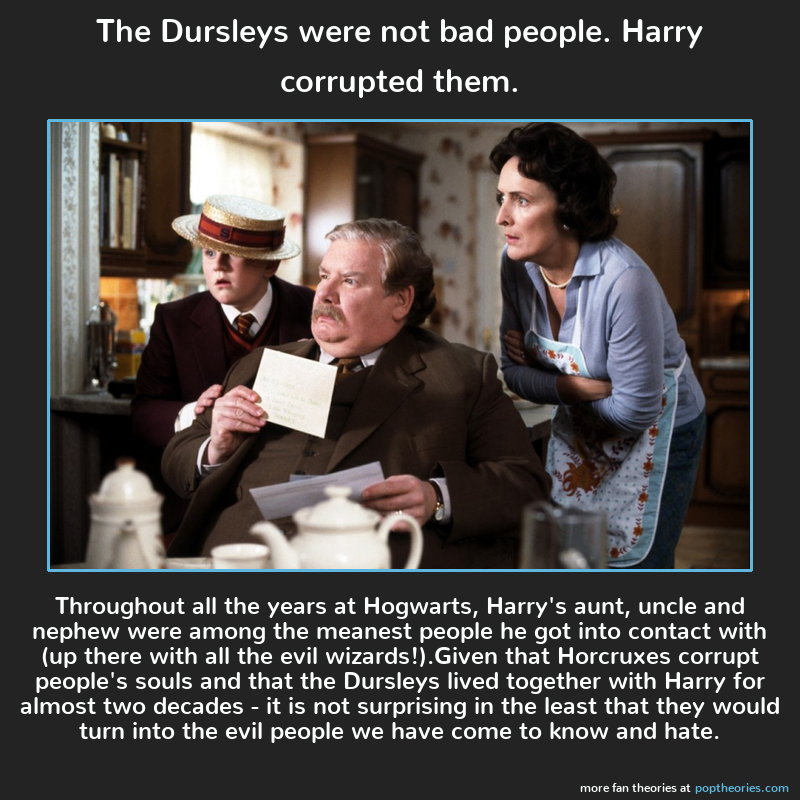 The Dursleys Were Not Bad People Harry Corrupted Them Reddit Harry Potter Harry Potter Theories Harry Potter Pictures
