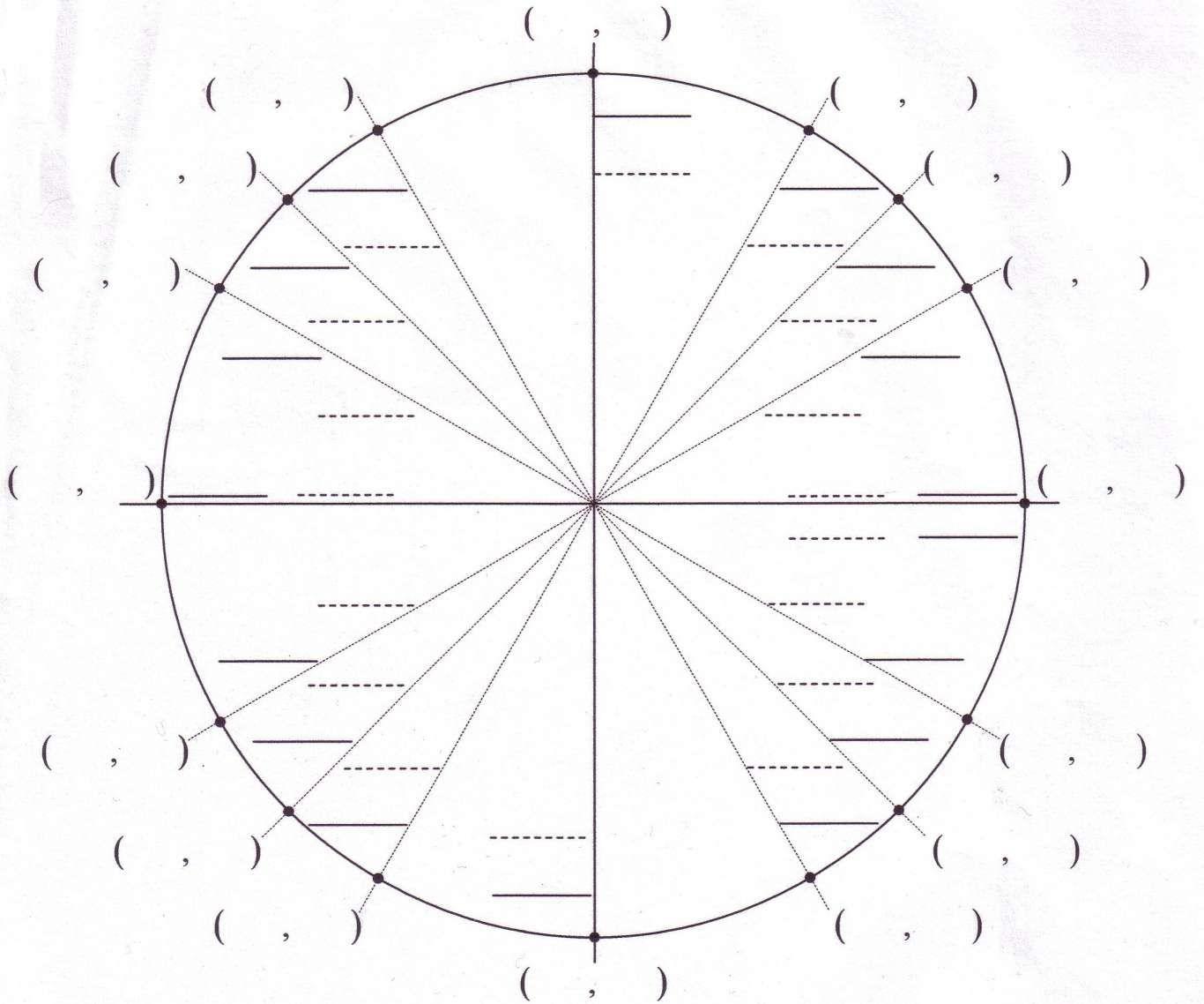 10 Blank Circle Math Worksheet 0 Circle Math Blank Unit Circle Math Worksheet