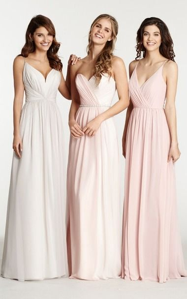 Pastel Color Sweetheart Chiffon Empire Floor Length Bridesmaid