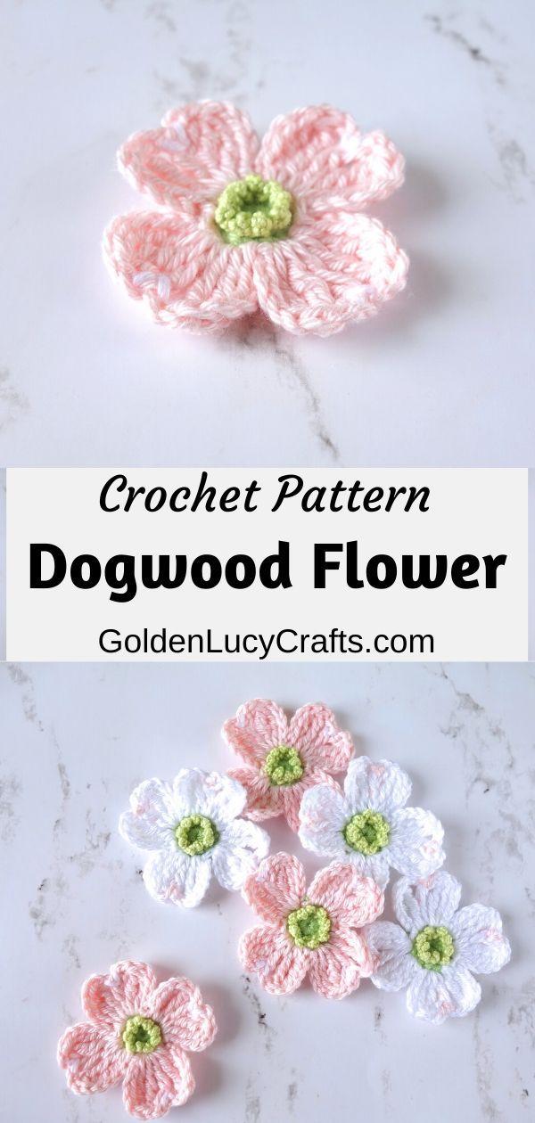 Crochet Dogwood Flower