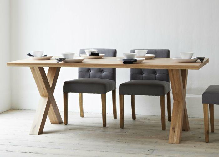 küchenstühle design grau holz ausgefallener esstisch   Küche Möbel ...